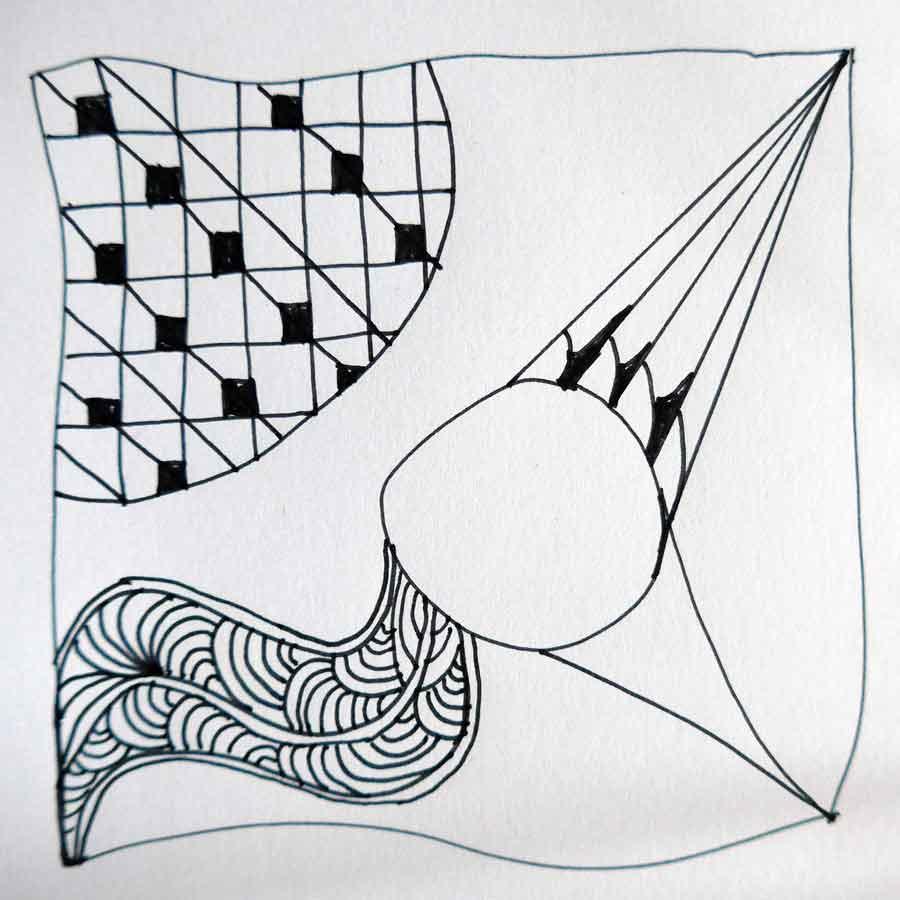 Schritt 7 Zentangle®-Anleitung