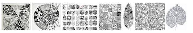 Zentangle Muster-Vorlagen