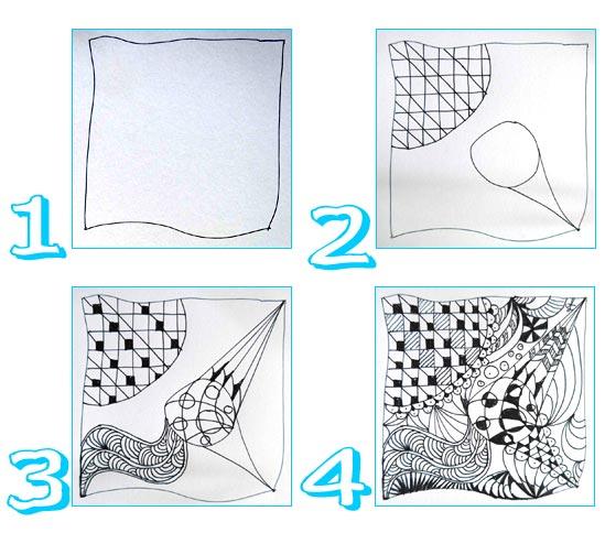 Zentangle Lernen leicht gemacht
