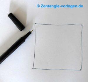 weißes Blatt Bild Schritt 3 Zentangle malen