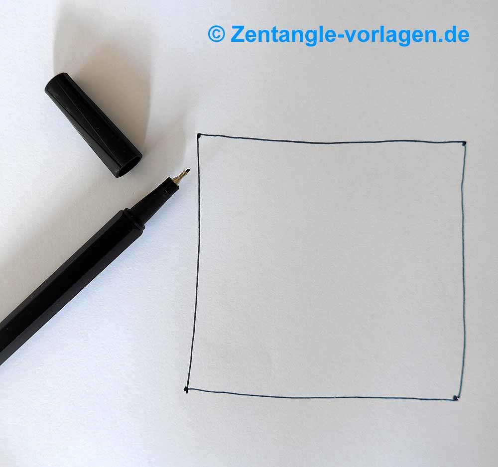 weißes Blatt Bild Schritt 2 Zentangle malen