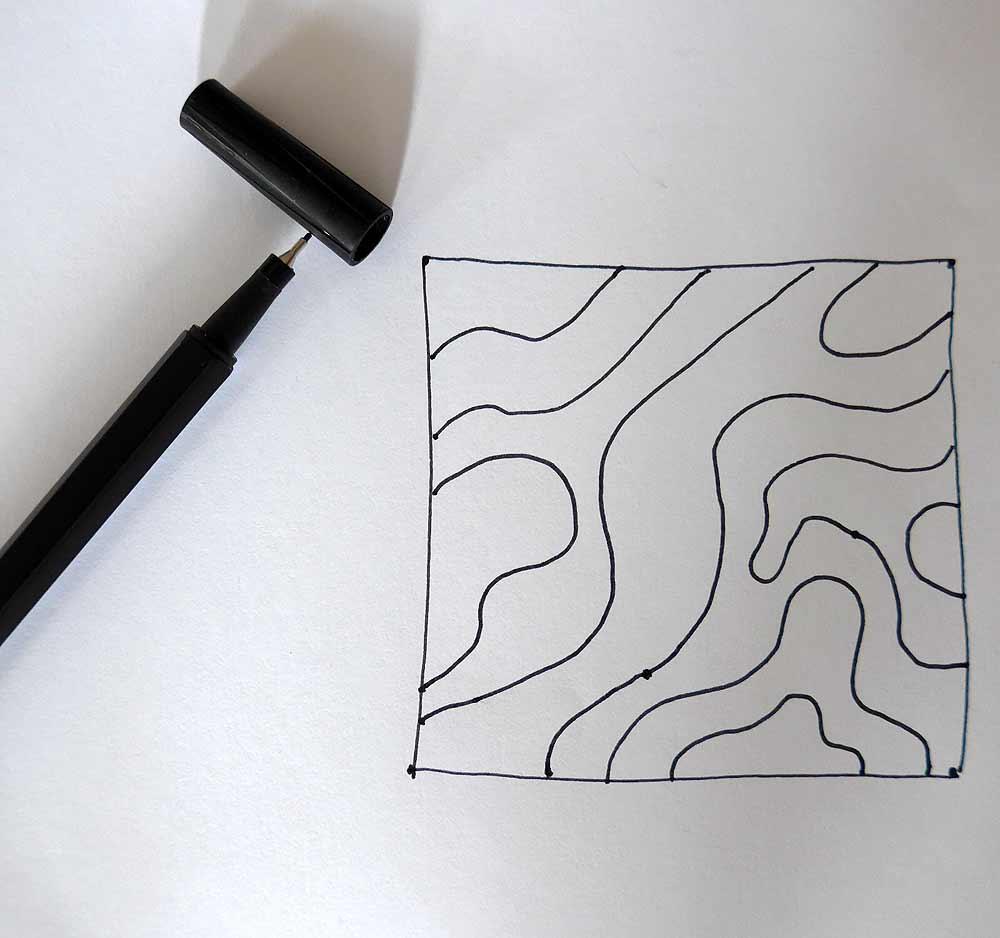 Bild Schritt 3 Zentangle malen