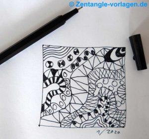 Bild Schritt 6 Zentangle malen