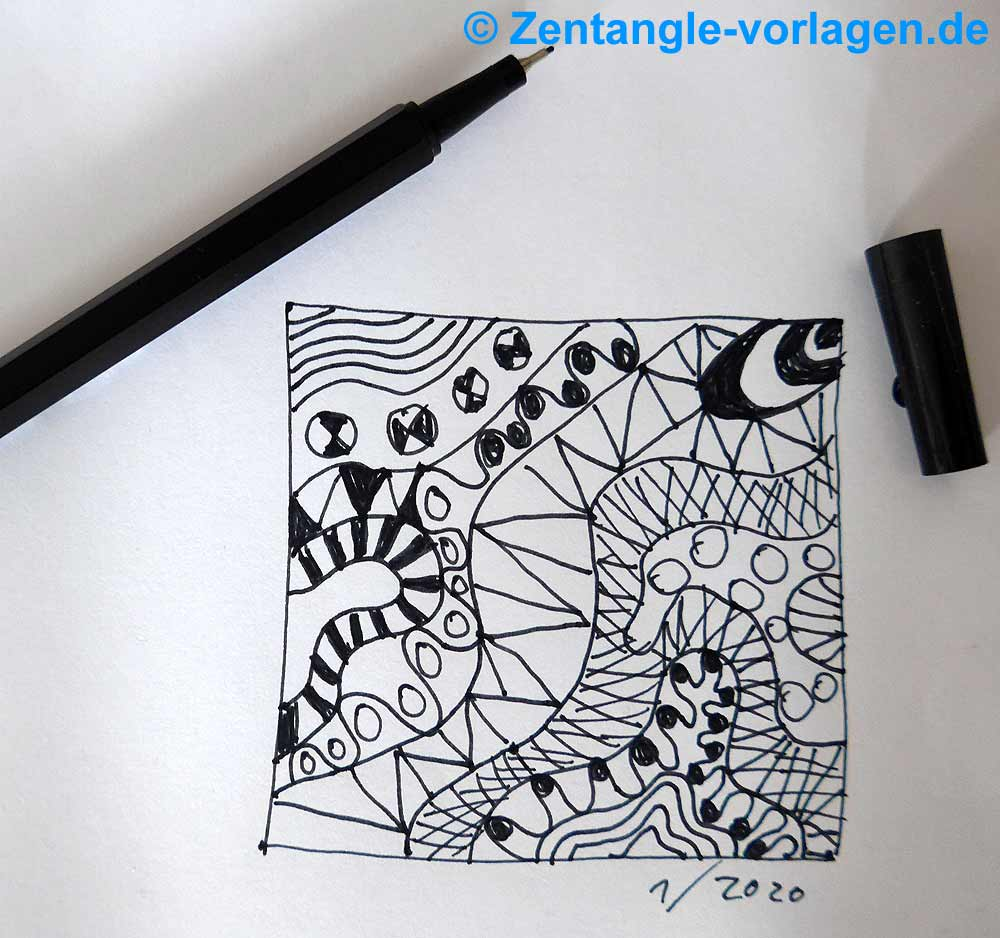 Bild Schritt 5 Zentangle malen
